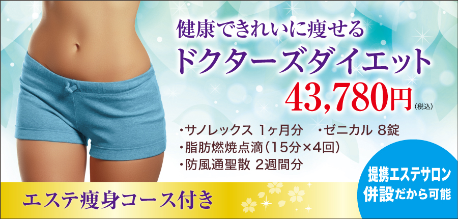 健康で綺麗に痩せるドクターズダイエット24800円