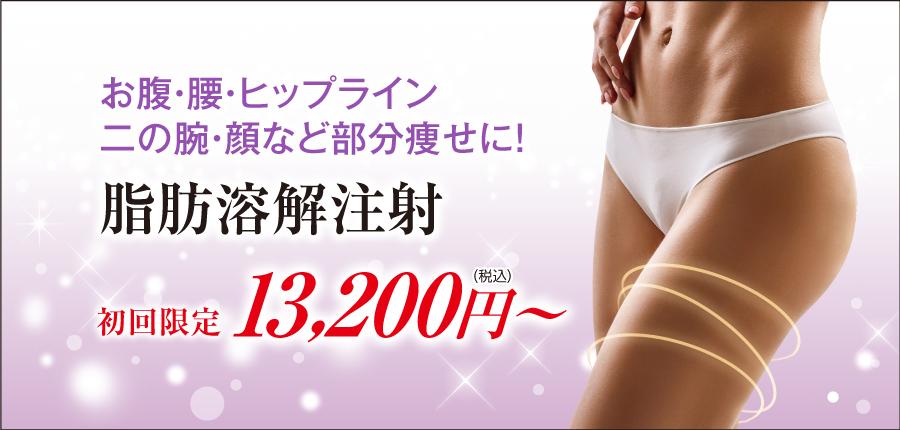 脂肪溶解注射13000円~